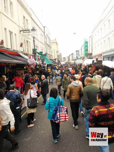 Portobello Road Market ใน London Uk  ตามรอย Notting Hill